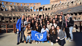 SHU travel abroad in Rome, Italy