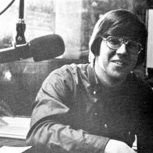 "Bob Ley, one of the original ESPN ""SportsCenter"" anchors who enjoyed a forty-year career at the sports network before retiring last year, in the old WSOU studios at Seton Hall University. Ley started his broadcasting career at the campus radio station, wh"