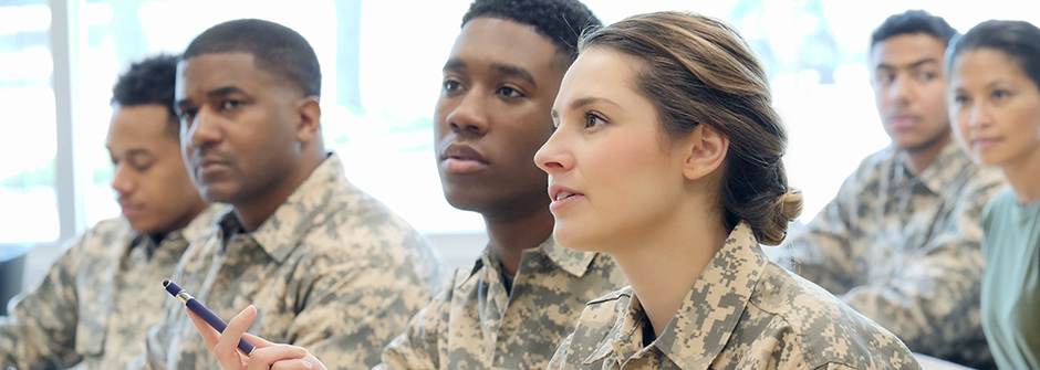 Military Personnel in a Classroom