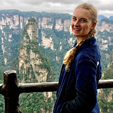 Seton Hall student, Abigail Hoffmann, in China