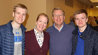 An admitted student with his family at Seton Hall