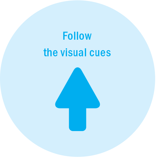 Follow Visual Cues Icon