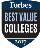 Forbes Best Value Colleges 2017 Badge