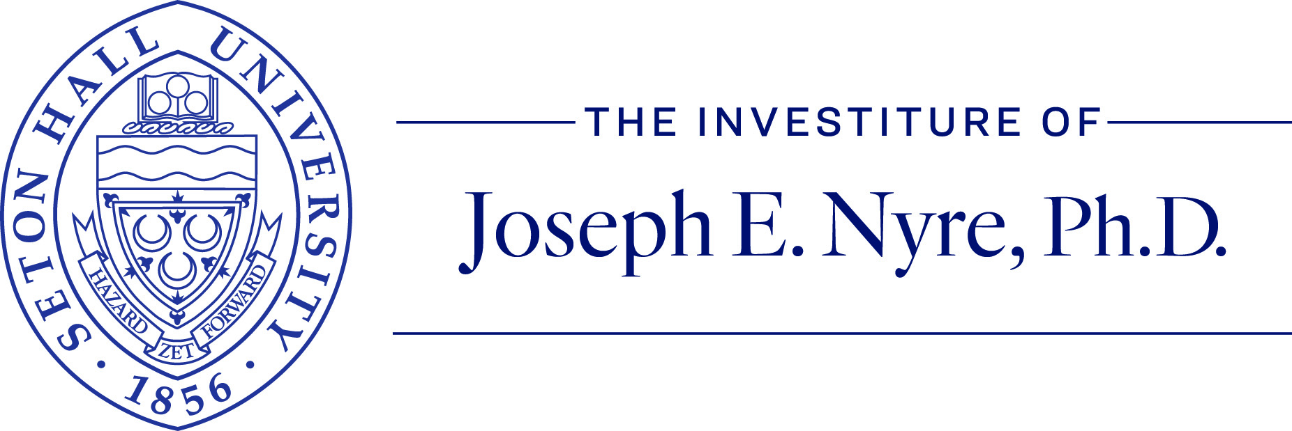 """Presidential Seal and text """"The Investiture of Joseph E. Nyre, Ph.D."""