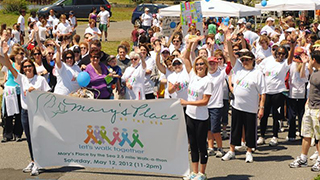 Mary's Place WalkaThon participants. Participants walk to support women with cancer. x320
