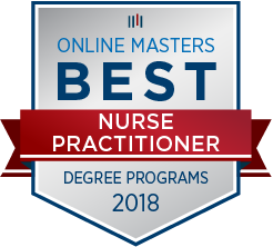 Online Masters Best Nurse Practitioner 2018 badge