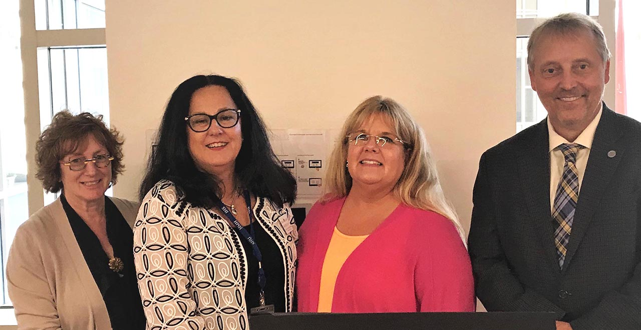 Laura Goshko, Kathleen Neville, Laura Leahy and Stanley Terlecky at the Training Program Regarding the Opioid Crisis