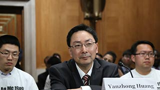 Yanzhong Huang travels and talks China/U.S. Relations