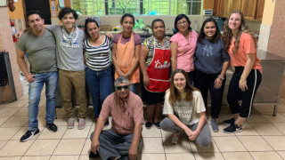 DOVE students with family in El Salvador