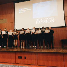 University Chamber Choir, Performs at Sister Rose's Passion Screening