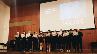 University Chamber Choir Singing at Sister Rose Passion's Screening