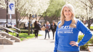 Chloe Magnuson on the Seton Hall campus